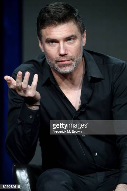 Anson Mount of Inhumans speaks onstage during the Disney/ABC Television Group portion of the 2017 Summer Television Critics Association Press Tour at...