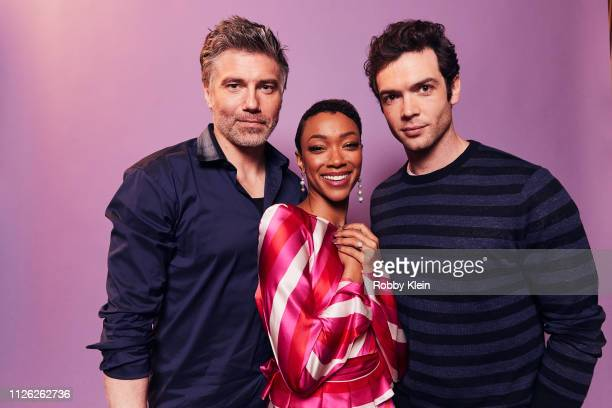 Anson Mount Sonequa MartinGreen and Ethan Peck of CBS's 'Star Trek Discovery' pose for a portrait during the 2019 Winter TCA at The Langham...