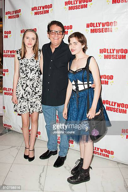 Anson Williams and family arrive at the The Hollywood Museum and The Hollywood Reporter present 'The Awards' Exhibit at The Hollywood Museum on...