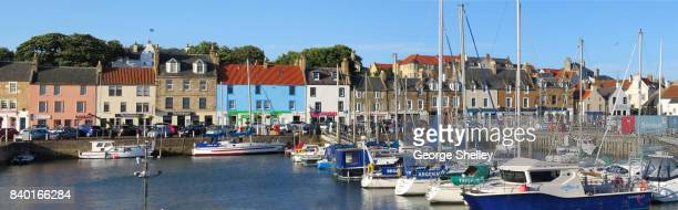 anstruther panoramic - harbour stock pictures, royalty-free photos & images