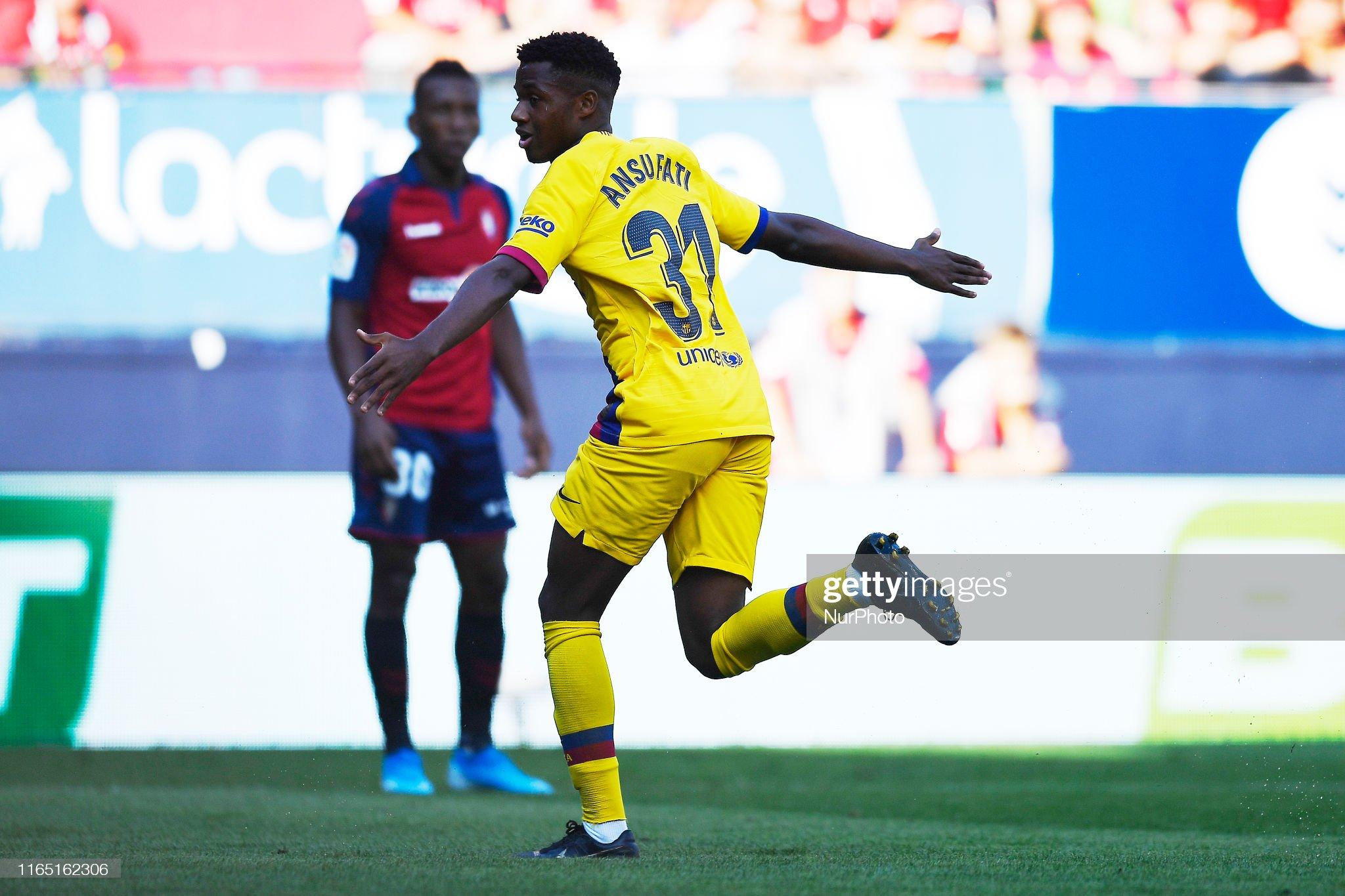 صور مباراة : أوساسونا - برشلونة 2-2 ( 31-08-2019 )  Ansu-fati-of-barcelona-celebrates-after-scoring-his-sides-first-goal-picture-id1165162306?s=2048x2048