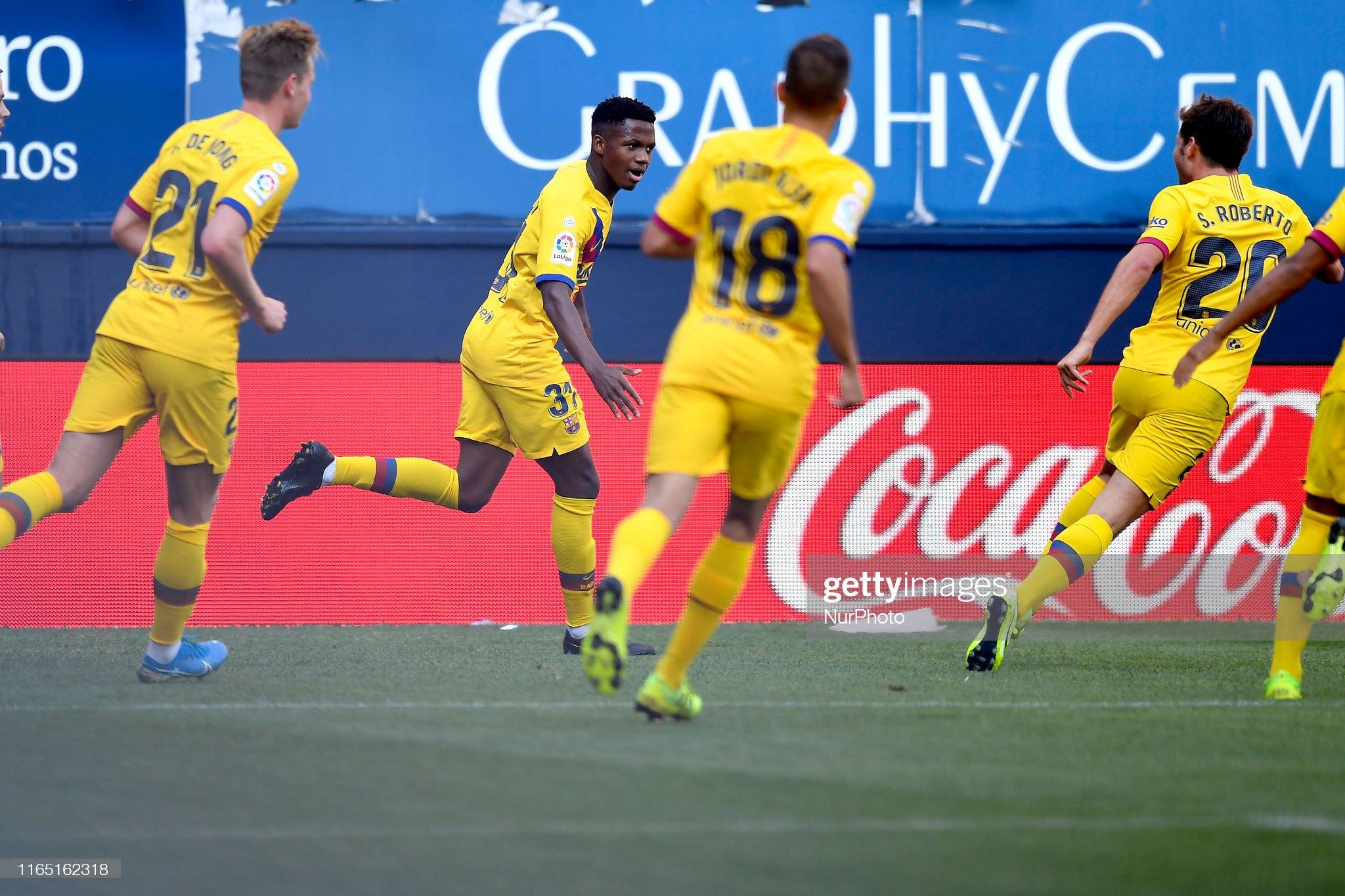 صور مباراة : أوساسونا - برشلونة 2-2 ( 31-08-2019 )  Ansu-fati-of-barcelona-celebrates-after-scoring-his-sides-first-goal-picture-id1165162318?s=2048x2048