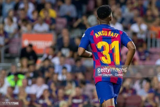 Ansu Fati of Barcelona during the Barcelona V Villarreal La Liga regular season match at Estadio Camp Nou on September 24th 2019 in Barcelona Spain