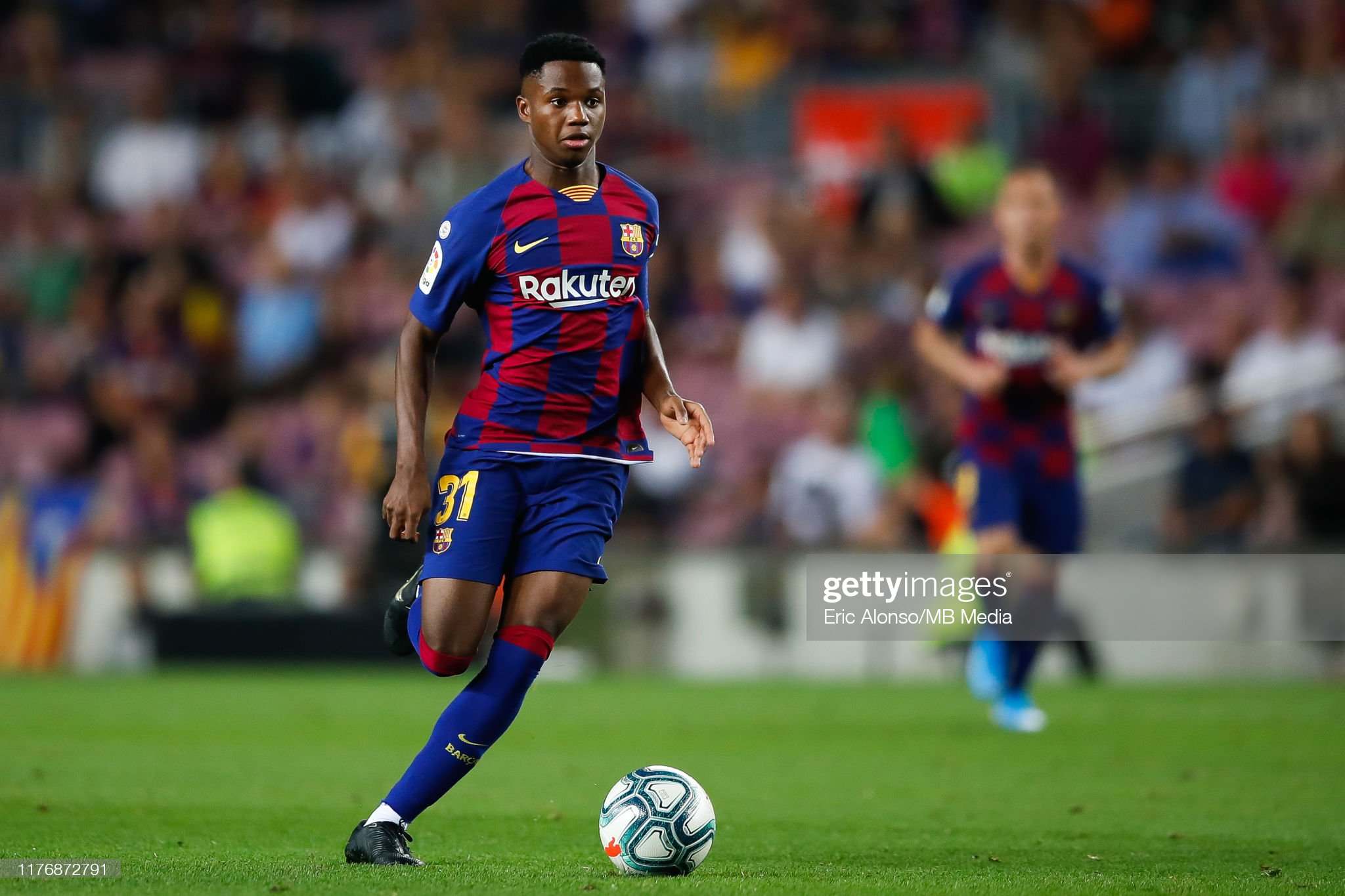 صور مباراة : برشلونة - فياريال 2-1 ( 24-09-2019 )  Ansu-fati-of-fc-barcelona-runs-with-the-ball-during-the-liga-match-picture-id1176872791?s=2048x2048
