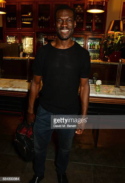 Ansu Kabia attends the press night after party for The Kenneth Branagh Theatre Company's 'Romeo And Juliet' at The The National Cafe on May 25 2016...