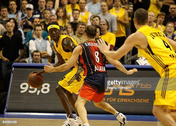 Ansu Sesay of Alba Berlin in action during the Euroleague Basketball Game 8 match between Alba Berlin v Tau Ceramica on December 18 2008 at the O2...