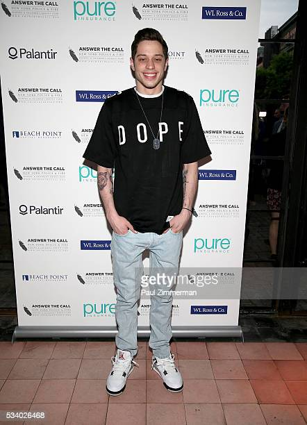 Answer the Call Kick off to Summer Honorary Chair/comedian Pete Davidson poses at the 4th annual New York Police and Fire Widows Children's Benefit...