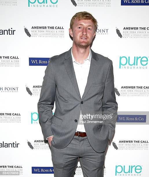 Answer the Call Kick off to Summer Honorary chair/MLS Red Bulls player Ryan Meara poses at the 4th annual New York Police and Fire Widows Children's...