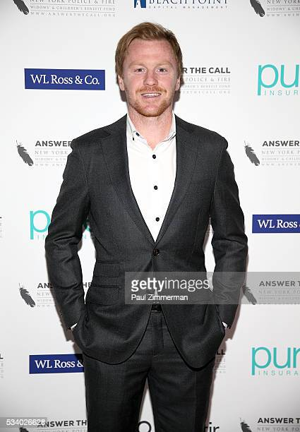 Answer the Call Kick off to Summer MLS Red Bulls Captain Dax McCarty poses at the 4th annual New York Police and Fire Widows Children's Benefit Kick...