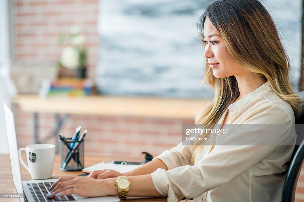 Answering Emails : Stock Photo