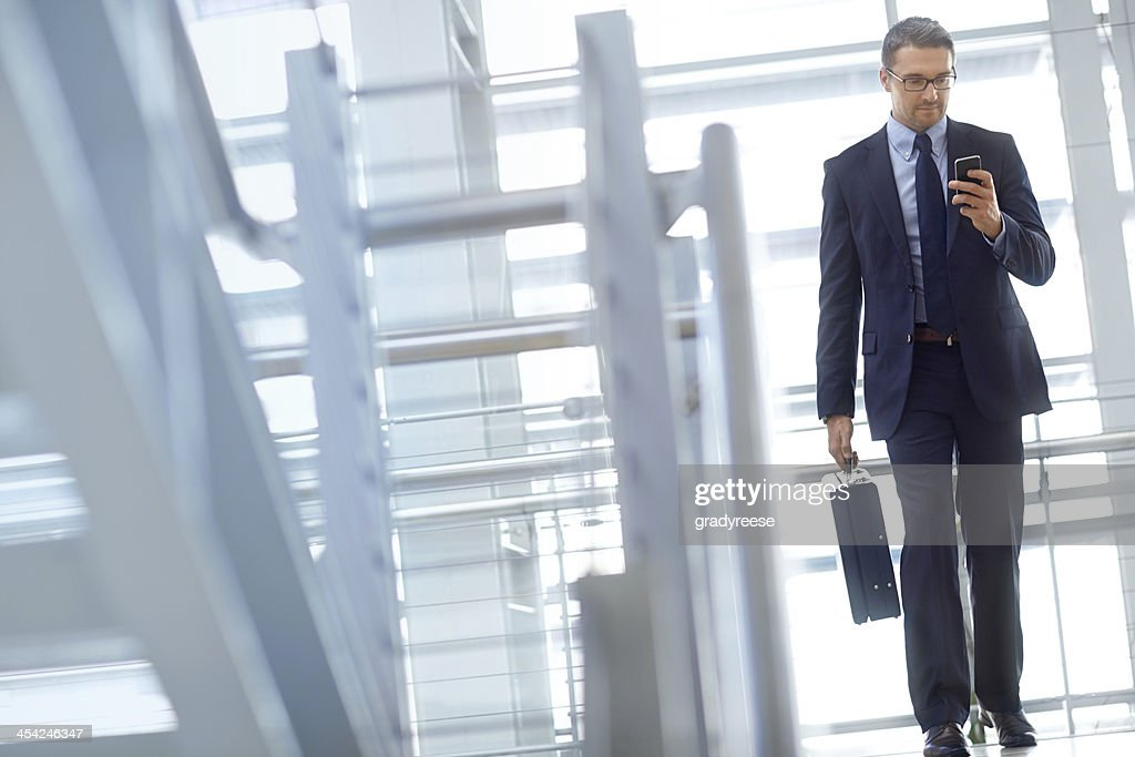 Answering his missed calls : Stock Photo