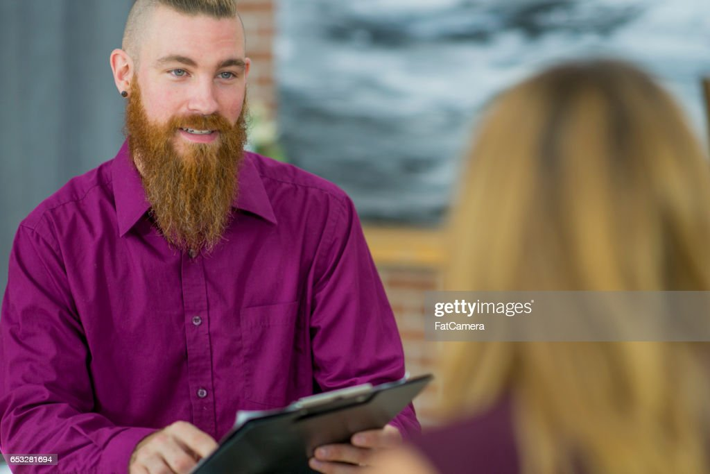 Answering Interview Questions : Stock Photo