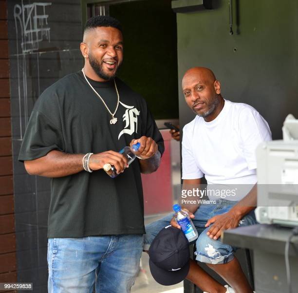 Ant and Alex Gidewon attends The 4th of July Day Party at Compound on July 4 2018 in Atlanta Georgia