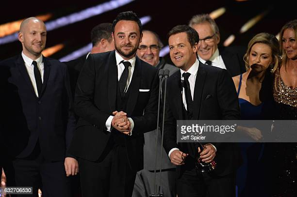 Ant and Dec accept the Best Challenge Show award for I'm a Celebrity Get Me Out of Here on stage during the National Television Awards at The O2...