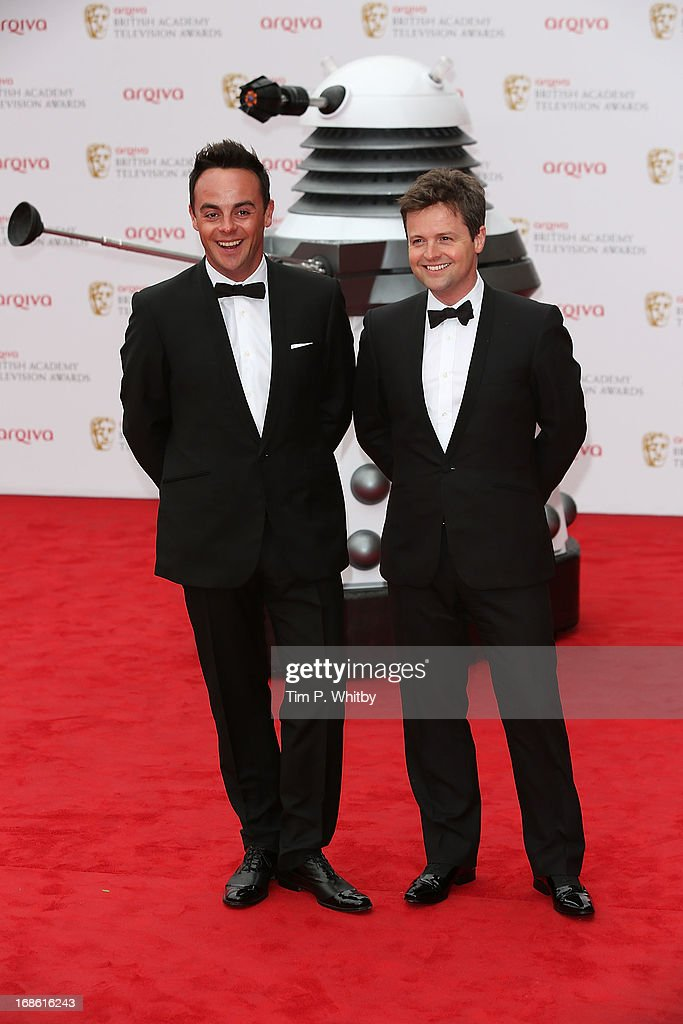 Ant and Dec attends the Arqiva British Academy Television Awards 2013 at the Royal Festival Hall on May 12, 2013 in London, England.