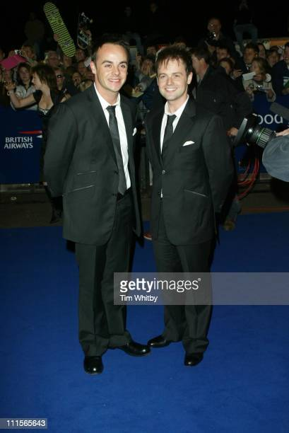 Ant and Dec during National Television Awards 2005 Arrivals at Royal Albert Hall in London Great Britain