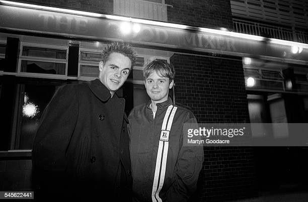 Ant and Dec LR Anthony McPartlin and Declan Donnelly at the Good Mixer pub Camden London United Kingdom 1994