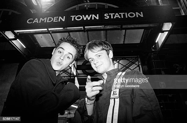 Ant and Dec outside Camden Town tube station London United Kingdom 1994