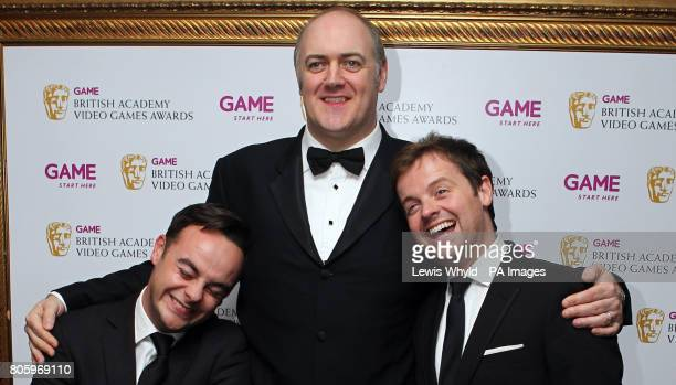 Ant and Dec with Dara O'Briain at the 2010 Game British Academy Video Games Awards at the London Hilton
