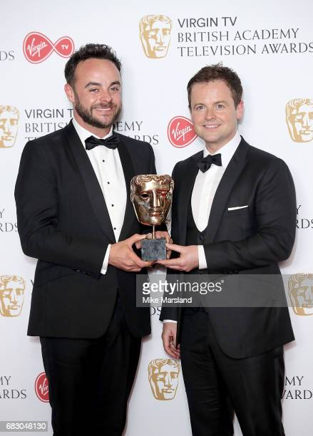 Ant and Dec with the Live Event award for The Queens 90th Birthday Celebration in the Winner's room at the Virgin TV BAFTA Television Awards at The...