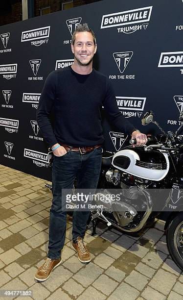 Ant Anstead attends the Global Triumph Bonneville launch on October 28 2015 in London England
