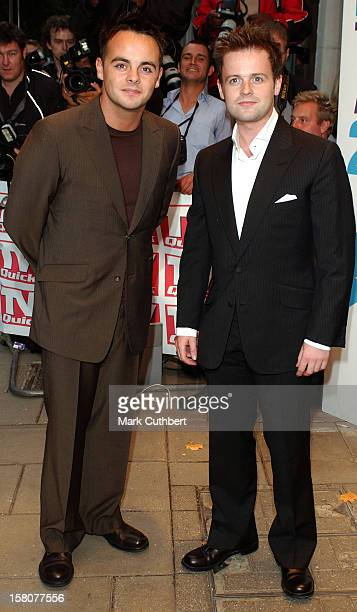 Ant Dec Attend The 2003 'Tv Quick Awards' At The Dorchester In London