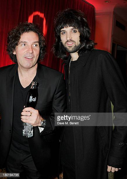 Ant Genn and Sergio Pizzorno arrive at The Q Awards 2011 at The Grosvenor House Hotel on October 24 2011 in London England