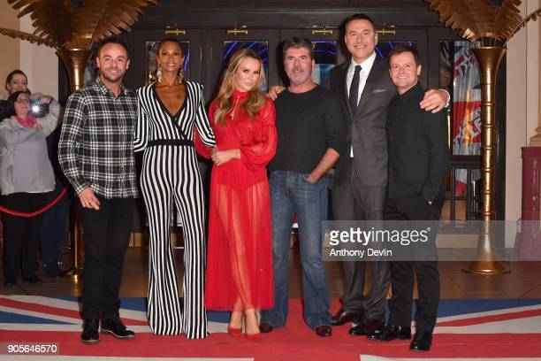 Ant McPartlin Alesha Dixon Amanda Holden Simon Cowell David Walliams and Dec Donnelly attend the 'Britain's Got Talent' Blackpool auditions held at...