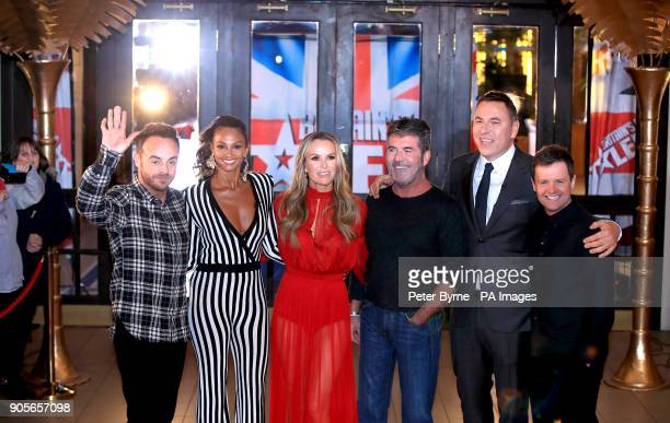 Ant McPartlin Alesha Dixon Amanda Holden Simon Cowell David Walliams and Declan Donnelly attending the Britain's Got Talent Photocall at the Opera...