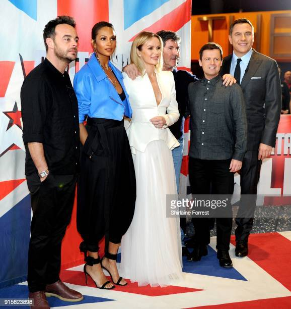Ant McPartlin Alesha Dixon Amanda Holden Simon Cowell Declan Donnelly and David Walliams attend the Britain's Got Talent Manchester auditions at The...