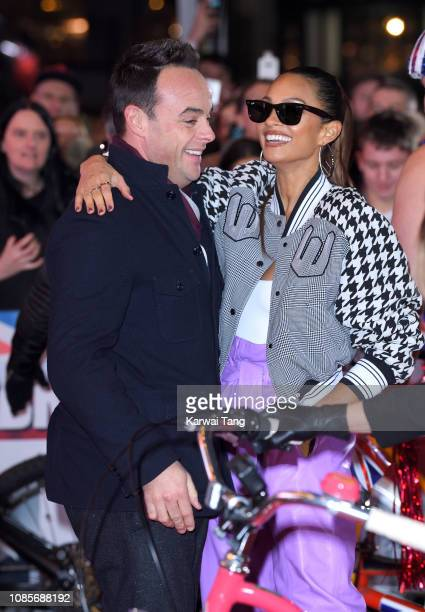 Ant McPartlin and Alesha Dixon arrive at the Britain's Got Talent 2019 photocall at London Palladium on January 20 2019 in London England