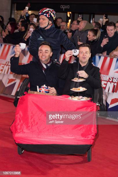 Ant McPartlin and Declan Donnelly arrive at the Britain's Got Talent 2019 auditions held at London Palladium on January 20 2019 in London England