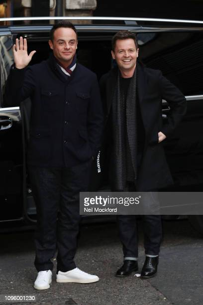 Ant McPartlin and Declan Donnelly arrive at The Royal Palladium for Britain's Got Talent auditions on January 18 2019 in London England
