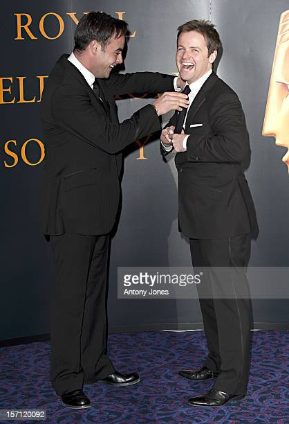 Ant Mcpartlin And Declan Donnelly Arrive At The Rts Programme Awards 2009 At The Grosvenor House Hotel On March 16 2010 In London England