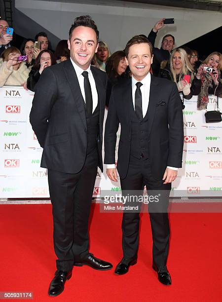 Ant McPartlin and Declan Donnelly attend the 21st National Television Awards at The O2 Arena on January 20 2016 in London England