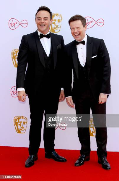 Ant McPartlin and Declan Donnelly attend the Virgin Media British Academy Television Awards 2019 at The Royal Festival Hall on May 12 2019 in London...