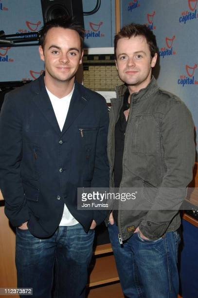Ant McPartlin and Declan Donnelly during Ant and Dec Visit Capital Radio April 03 2006 at Capital Radio in London Great Britain