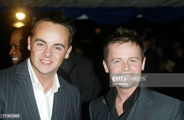 Ant McPartlin and Declan Donnelly during The British Comedy Awards 2004 Arrivals at LWT Southbank in London Great Britain