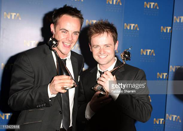 Ant McPartlin and Declan Donnelly with their 2005 National Television Award for Best Entertainment Presenter
