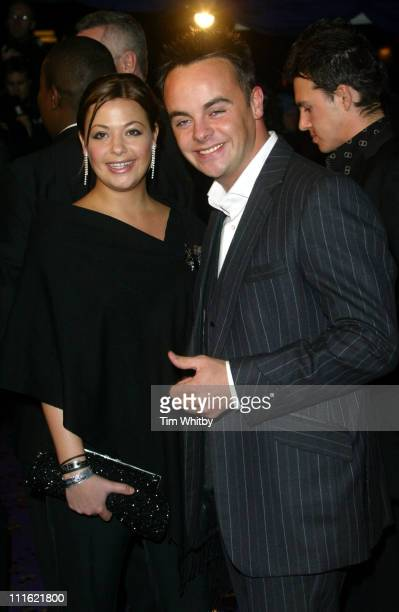 Ant McPartlin and guest during The British Comedy Awards 2004 Arrivals at LWT Southbank in London Great Britain