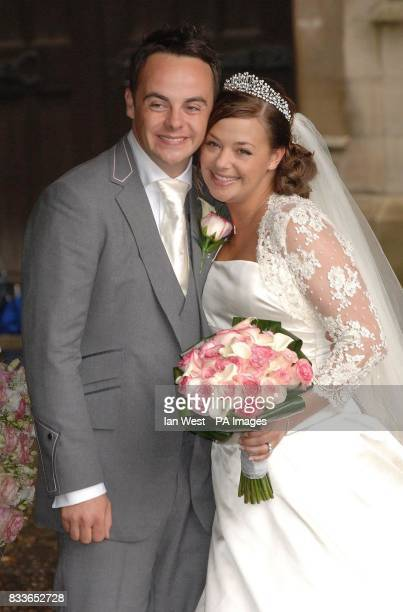 Ant McPartlin and Lisa Armstrong after their wedding at StNicholas Church in Taplow Buckinghamshire