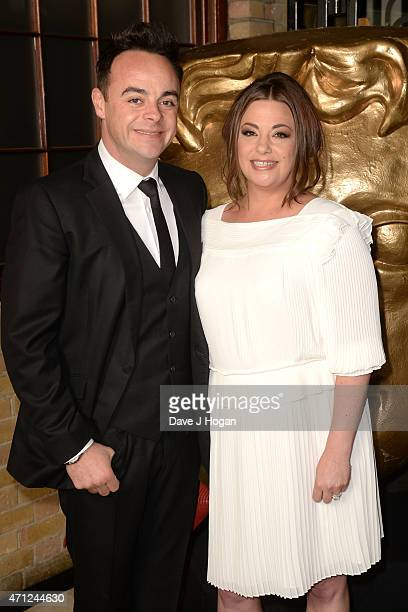 Ant McPartlin and Lisa Armstrong arrive for the BAFTA TV Craft Awards at The Brewery on April 26 2015 in London England