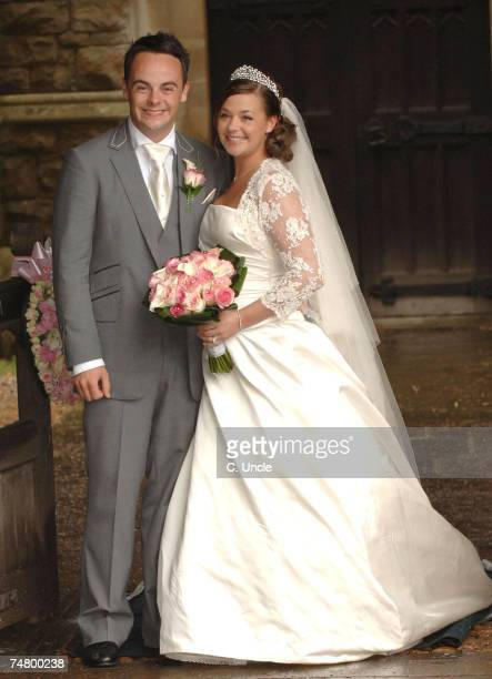 Ant McPartlin and Lisa Armstrong at the Ant McPartlin and Lisa Armstrong Wedding at St Nicholas Church Taplow in Taplow