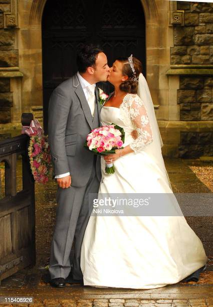Ant McPartlin and Lisa Armstrong during Ant McPartlin and Lisa Armstrong Wedding at St Nicholas Church Taplow in Taplow Great Britain