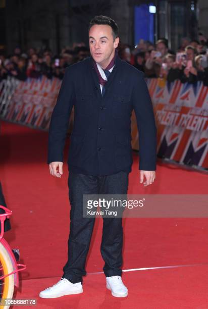 Ant McPartlin arrives at the Britain's Got Talent 2019 photocall at London Palladium on January 20 2019 in London England
