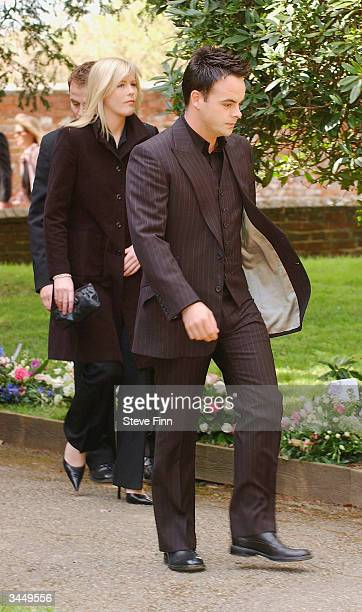 Ant McPartlin arrives at the Funeral of Caron Keating following her death from breast cancer last week at Hever Church in Edenbridge on April 20 2004...