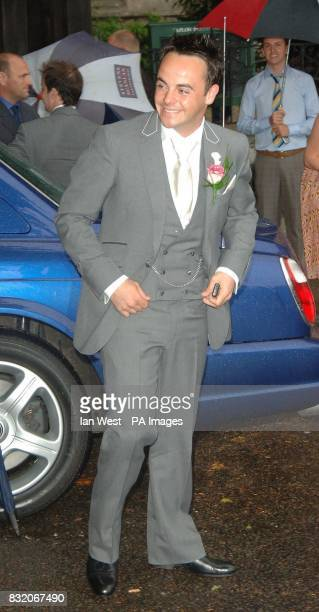 Ant McPartlin arrives for his wedding to Lisa Armstrong at StNicholas Church in Taplow Buckinghamshire Picture date Saturday July 22 2006