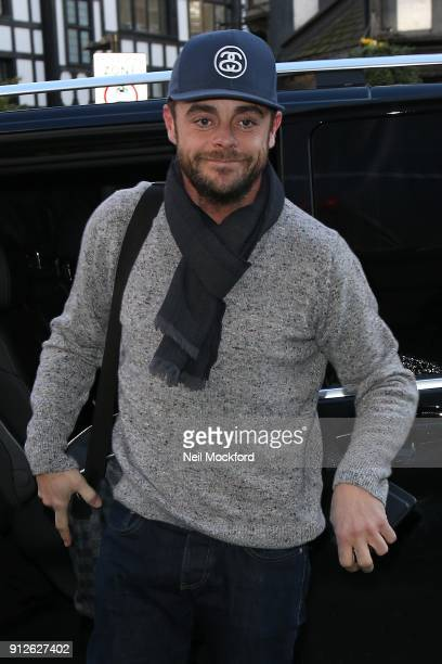 Ant McPartlin arriving at the London Palladium for Britain's Got Talent auditions on January 31 2018 in London England