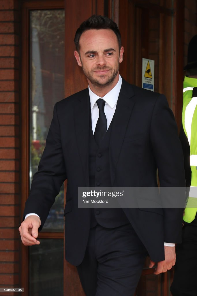Ant McPartlin at Wimbledon Magistrates Court on April 16, 2018 in London, England. Anthony McPartlin, one half of the television presenting duo Ant and Dec, appears in court charged with drink-driving following a three car collision on March 18 2018.