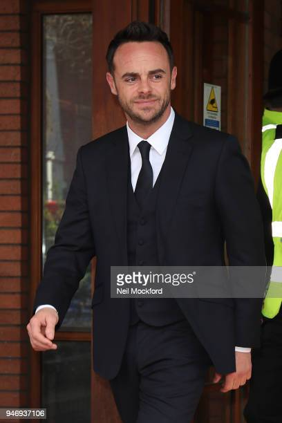 Ant McPartlin at Wimbledon Magistrates Court on April 16 2018 in London England Anthony McPartlin one half of the television presenting duo Ant and...